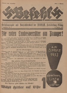 Befehl Nr. 8, 25. Februar 1933