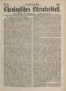 Theologisches Literaturblatt, 6. April 1883, Nr 14.