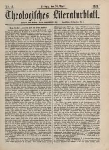 Theologisches Literaturblatt, 20. April 1883, Nr 16.