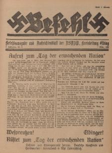 Befehl Nr. 9, 1. März 1933