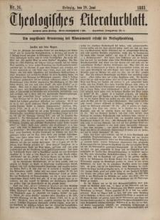 Theologisches Literaturblatt, 29. Juni 1883, Nr 26.
