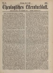 Theologisches Literaturblatt, 6. Juli 1883, Nr 27.