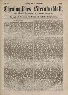 Theologisches Literaturblatt, 21. September 1883, Nr 38.