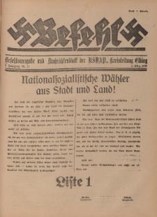 Befehl Nr. 11, 8. März 1933