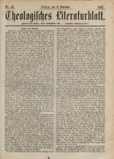 Theologisches Literaturblatt, 16. November 1883, Nr 46.