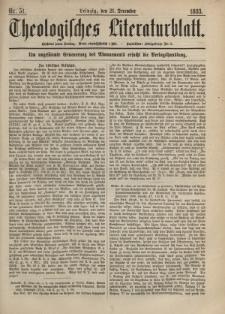 Theologisches Literaturblatt, 21. Dezember 1883, Nr 51.