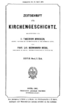 Zeitschrift für Kirchengeschichte, 1907, Bd. 28, H. 1.