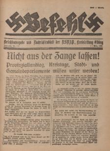 Befehl Nr. 12, 11. März 1933