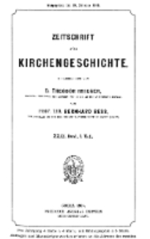 Zeitschrift für Kirchengeschichte, 1908, Bd. 29, H. 1.