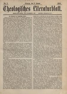 Theologisches Literaturblatt, 11. Januar 1884, Nr 2.