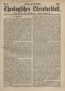 Theologisches Literaturblatt, 22. Februar 1884, Nr 8.