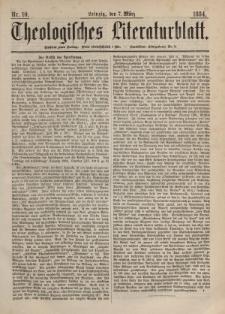 Theologisches Literaturblatt, 7. März 1884, Nr 10.