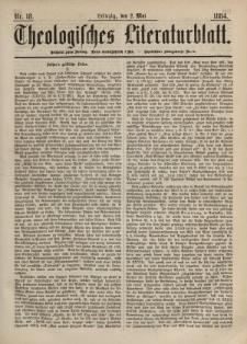 Theologisches Literaturblatt, 2. Mai 1884, Nr 18.