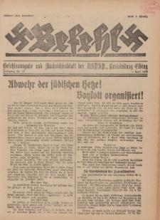 Befehl Nr. 15, 1. April 1933
