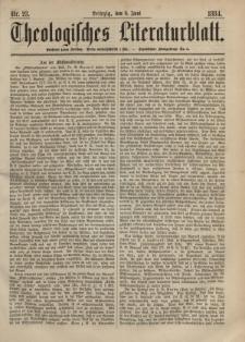 Theologisches Literaturblatt, 6. Juni 1884, Nr 23.