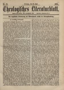 Theologisches Literaturblatt, 20. Juni 1884, Nr 25.