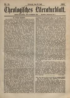 Theologisches Literaturblatt, 18. Juli 1884, Nr 29.