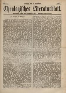 Theologisches Literaturblatt, 12. September 1884, Nr 37.