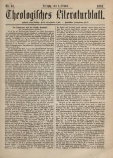 Theologisches Literaturblatt, 3. Oktober 1884, Nr 40.