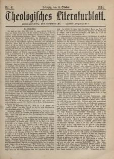 Theologisches Literaturblatt, 10. Oktober 1884, Nr 41.