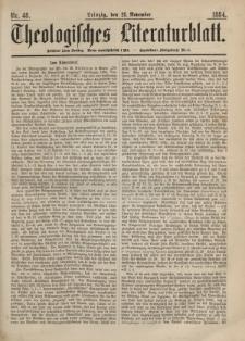 Theologisches Literaturblatt, 28. November 1884, Nr 48.