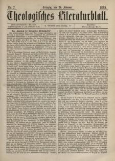Theologisches Literaturblatt, 20. Februar 1885, Nr 7.