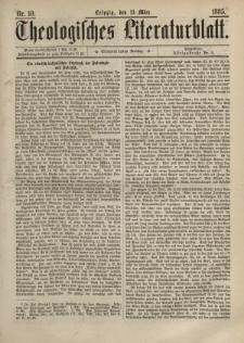 Theologisches Literaturblatt, 13. März 1885, Nr 10.
