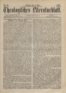 Theologisches Literaturblatt, 12. Juni 1885, Nr 23.