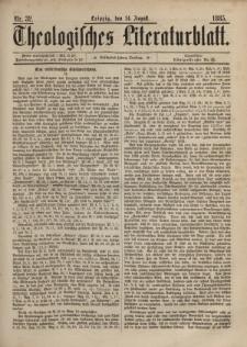 Theologisches Literaturblatt, 14. August 1885, Nr 32.