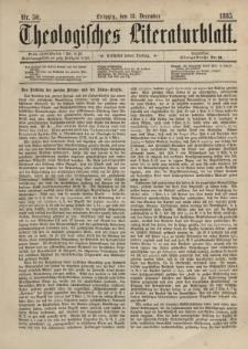 Theologisches Literaturblatt, 18. Dezember 1885, Nr 50.