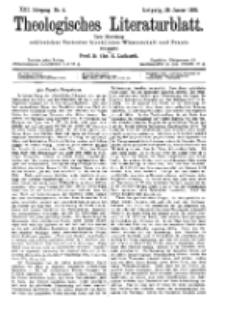 Theologisches Literaturblatt, 29. Januar 1892, Nr 4.