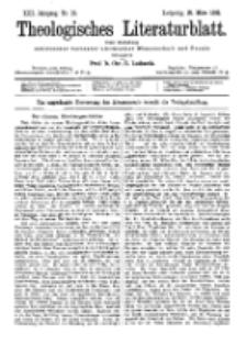 Theologisches Literaturblatt, 25. März 1892, Nr 12.