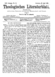 Theologisches Literaturblatt, 22. April 1892, Nr 16.