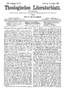 Theologisches Literaturblatt, 19. August 1892, Nr 33.