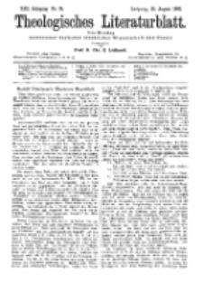 Theologisches Literaturblatt, 26. August 1892, Nr 34.