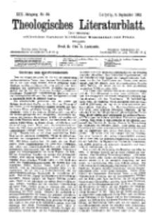 Theologisches Literaturblatt, 9. September 1892, Nr 36.