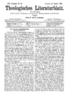 Theologisches Literaturblatt, 21. Oktober 1892, Nr 42.
