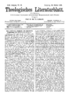 Theologisches Literaturblatt, 28. Oktober 1892, Nr 43.