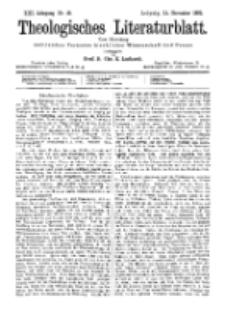 Theologisches Literaturblatt, 11. November 1892, Nr 45.
