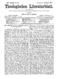Theologisches Literaturblatt, 9. Dezember 1892, Nr 49.