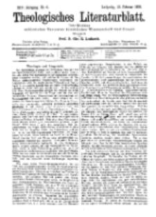 Theologisches Literaturblatt, 10. Februar 1893, Nr 6.