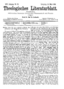 Theologisches Literaturblatt, 10. März 1893, Nr 10.