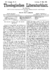 Theologisches Literaturblatt, 17. März 1893, Nr 11.