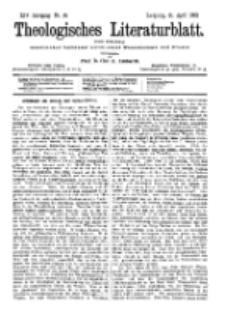 Theologisches Literaturblatt, 21. April 1893, Nr 16.
