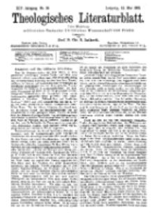 Theologisches Literaturblatt, 12. Mai 1893, Nr 19.