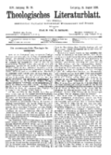 Theologisches Literaturblatt, 11. August 1893, Nr 32.