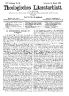 Theologisches Literaturblatt, 18. August 1893, Nr 33.