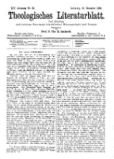 Theologisches Literaturblatt, 15. Dezember 1893, Nr 50.
