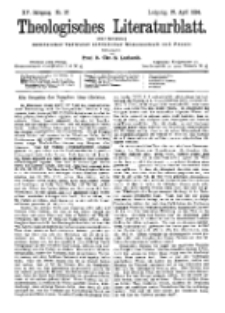 Theologisches Literaturblatt, 27. April 1894, Nr 17.