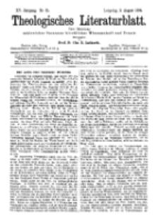Theologisches Literaturblatt, 3. August 1894, Nr 31.
